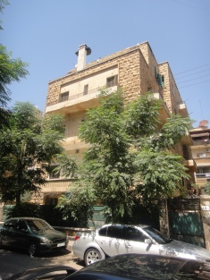 Nana's 1950s apartment building in the Sabeel neighborhood in Aleppo