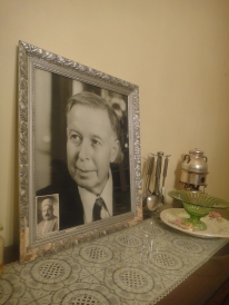 Portrait of my grandfather, Judge Mohammed Aly Serjieh. A photo of his father, my great-grandfather, Haj Aly Serjieh, is tucked in the frame